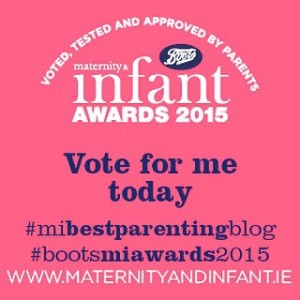 So excited to be a finalist for best parenting blog