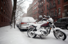 motorbike in snow