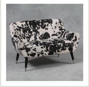 Cow print sofa