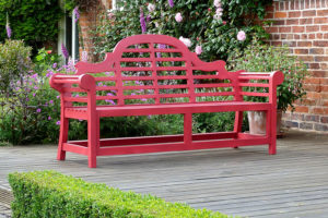 colourful garden bench