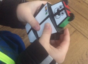 Rubix cube shaped like a bear