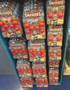 Smashers Toy display