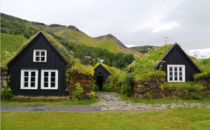 grass houses in Iceland
