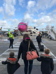 boarding WOW air flight