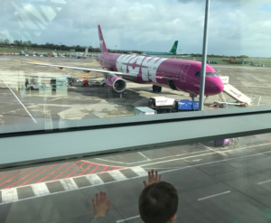 WOW air aircraft on runway