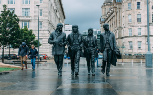 beatles band statues