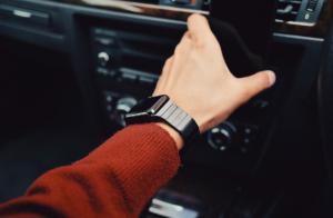 arm wearing watch